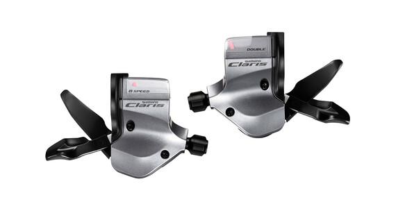 Shimano Claris SL-2400 Zestaw klamkomanetek 2x8-biegowe srebrny